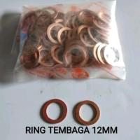 Ring paking copper washer tembaga ukuran 12mm harga per pcs