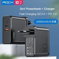 ROCK Sugar 2 in 1 Power Bank & Wall Charger PD & QC 3.0 10000 mAh