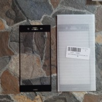 Tempered Glass Sony Xperia XZ1 Full 2.5D warna list hitam