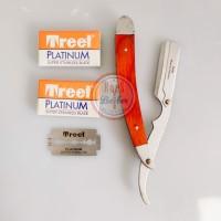 Pisau Cukur Lipat Razor Shaving Set Fariha Kayu Original Plus Silet