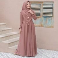 Baju Gamis Syari Wanita Terbaru Aninda Set Syari Setelan Wanita Murah