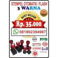 Stempel Otomatis/Flash 3 Warna Murah Meriah