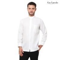 Kemeja Muslim Pria Lengan Panjang Guy Laroche Isaak La Chemise Putih