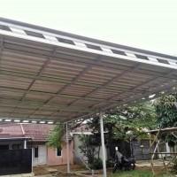 kanopi baja ringan dan atap sepandex warna dan pasir