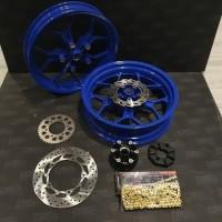 Velg Lebar Vrossi Yamaha All New R15 VVA komplit Gir Dan piringan Set