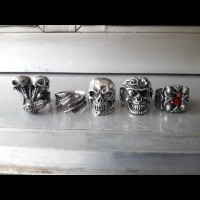 new skull ring stainless steel 316L ex display 2
