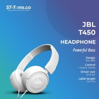 JBL On-Ear Headphone T450 - Putih