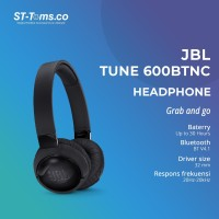JBL T600BT N.C / T 600 BT NC Wireless On-ear Headphones - Black