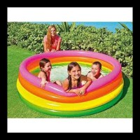 Terlaris Kolam Renang Anak 4 Ring Sunset Glow Pool - Intex 56441Np