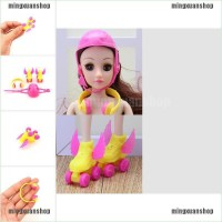 Random ☀❉ 3PCS/set doll Sports Accessories Shoes Helmet Headset