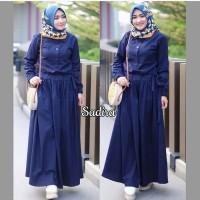 NajwaStores Baju Gamis Wanita Muslim Terbaru Sandira Dress Murah