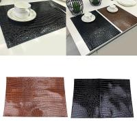 Makan Taplak Meja Bahan Kulit Anti Slip Tahan Panas untuk Dekorasi