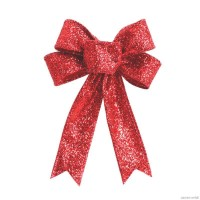 Gift 4 pcs Large Red Christmas Bow Door Ornament Christmas