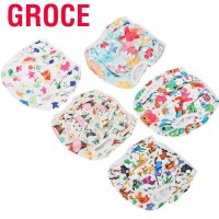XL Groce Baby Swimming Diaper Cartoon Floral Pattern Washable