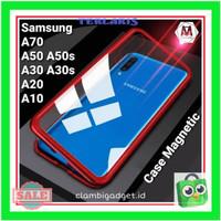 Case Samsung A70 A50s A50 A30s A30 A20 A10 Magnetic Glass Magneti