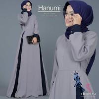 NajwaStores Fashion Muslim Baju Gamis Wanita Terbaru Hanumi Dress