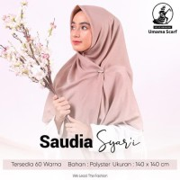 hijab jilbab segi 4 saudia polos jumbo umama TERLENGKAP