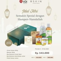 Paket Hampers Lebaran Hdi Hamdallah Clover Honey Mini Facial Wash