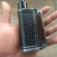 PROMO BACK COVER CASE LEATHER LOST VAPE THERION DNA 75-133-166 - HITAM