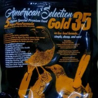 American Selection Gold 35 pakan pur voer murai juara ams pelet kasar