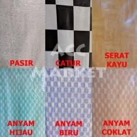 Gitamall Karpet Tikar Lantai Plastik 1 Roll 24 Meter Vinyl Alas Taplak