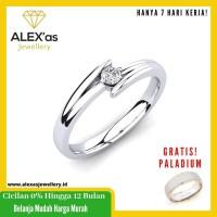 cincin berlian Oblique2 ring natural diamond emas 18k 7 hari Fvvs