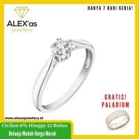 cincin berlian Solitaire Cru ring natural diamond emas 18k 7 hari Fvvs