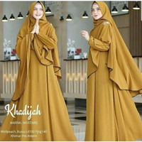 Khadijah Syari Set Fashion Baju Gamis Wanita Muslim Hijab Cantik