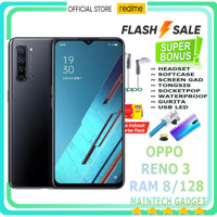 Oppo Reno 3 Ram 8 - 128 GB Ultra Clear 108MP Images Camera Pro Resmi