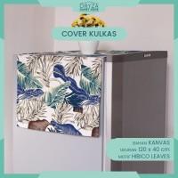 Cover Sarung Tutup Taplak Kulkas - Motif Hibico Leaves