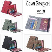 Cover Passport / Sarung Passport Travel PU Leather Import - Merah