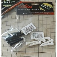 Knip Pin Bridge Gitar Akustik Alice Polos Set 6 pcs