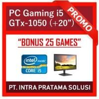 "PC Design / Gaming - i5-3470 + RAM 8GB + SSD + GTx 1050 2GB + LED 20"""