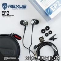 Rexus EP2 In Ear-Headset - Gaming Earphone with Earhook EP-2