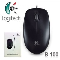 Mouse Logitech Optical USB - Hitam