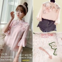 BM- 1747# Pinky Cheongsam / blouse wanita