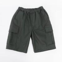 Daily Outfits Celana Kargo Pants Pendek Cargo Katun Strech Abu