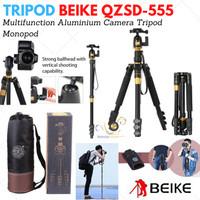 Tripod Beike QZSD-555 Locking Leg + Free Tas (bisa jadi monopod juga)