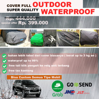 OUTDOOR PREMIUM body Cover sarung Mobil PAJERO SPORT SUV Waterproof - Hitam