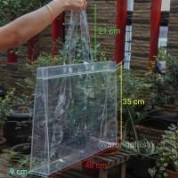Tote Bag Transparant / Tote Bag Plastik / Tas Plastik / Tas PVC