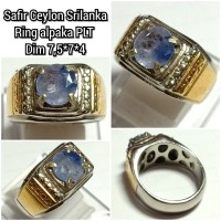 CINCIN BATU PERMATA BLUE SAFIR CEYLON SRILANKA TOP QUALITY ASLI NATURA