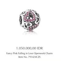 charm pandora fancy pink falling in love ori