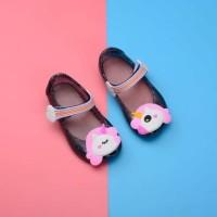 Sepatu Jelly Flat Bayi Anak Rubber Unicorn Kid Jelly Shoes BLACK
