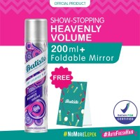 Batiste Heavenly Volume Dry Shampoo 200ml FREE Foldable Mirror