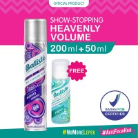 Batiste Heavenly Volume Dry Shampoo 200ml FREE Batiste Original 50ml