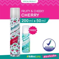 Batiste Fruity & Cheeky Cherry Dry Shampoo 200ml FREE Batiste Original