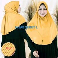 hijab serut tali belakang jersey zoya/ hijab sekolah/ hijab serut tali