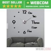 Jam Dinding Besar DIY Giant Clock Underline & Angka 37 Inch 70-90cm