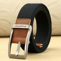 Gesper Tali Ikat Pinggang Pria Canvas Belt Model Casual 125cm / 3.5cm