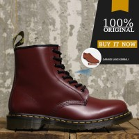 Sepatu Boots Original Dr. Martens 1460 Leather - Cherry Red Smooth
